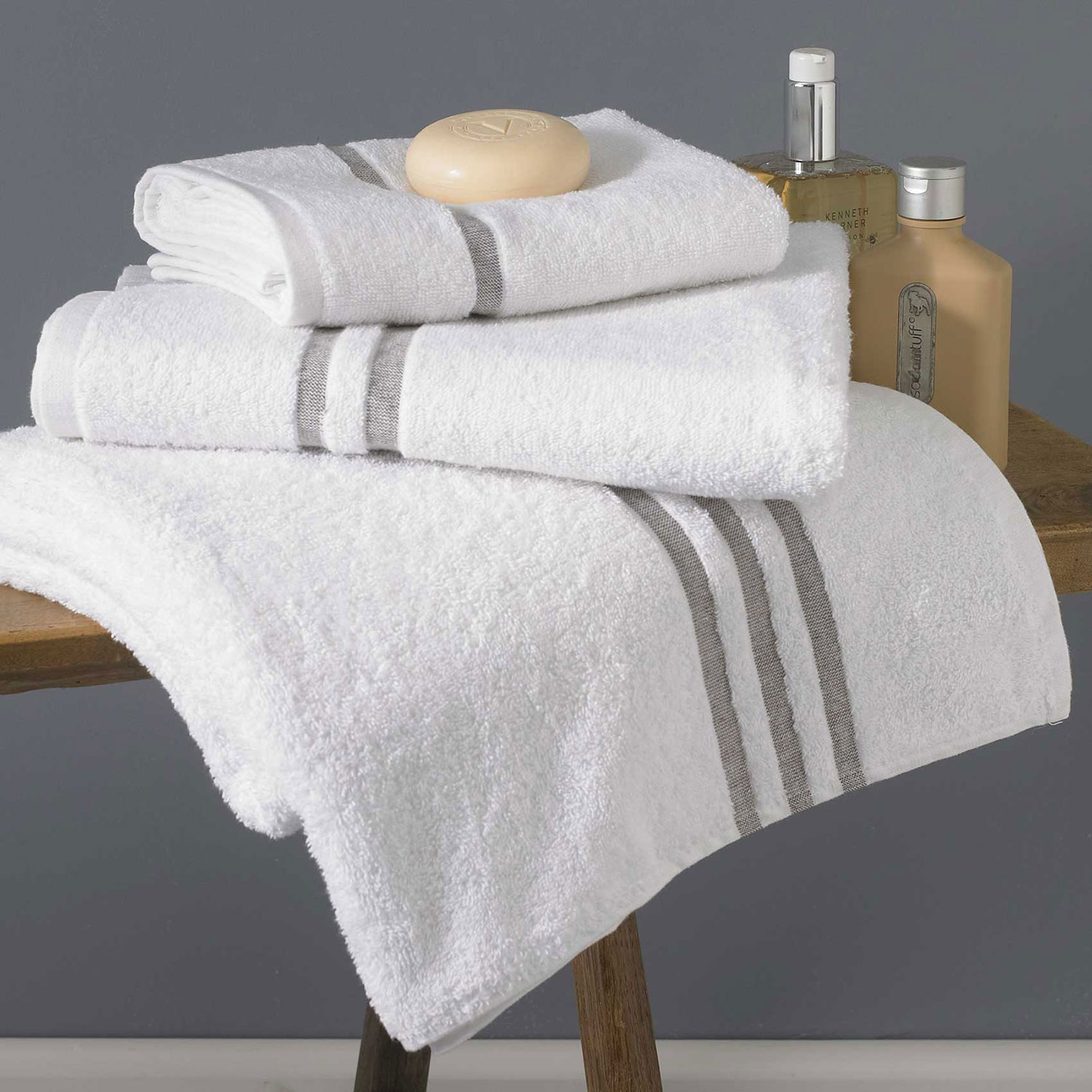 BROWN LAND COTTON TOWELS